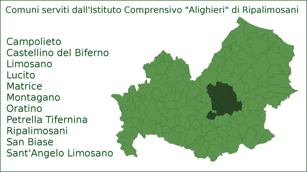 """Mappa del'Istituto Comprensivo """"Alighieri"""" di Ripalimosani (Molise, Italia)"""